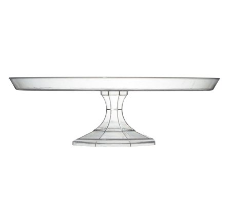 Plastic Cake Stand 13.75'' - Clear - 12 pcs