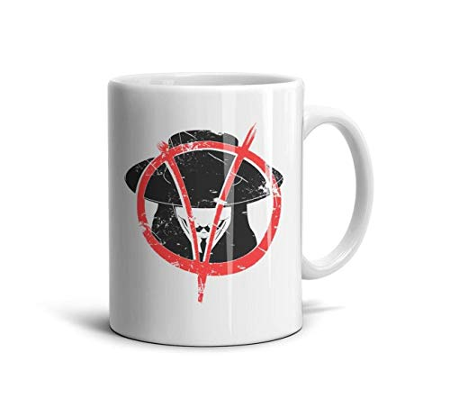 11 OZ Ceramic Coffee Mugs V-Face-Revolt-Classic Cups wiht Graphic Printing Tea Cup Birthday Gift