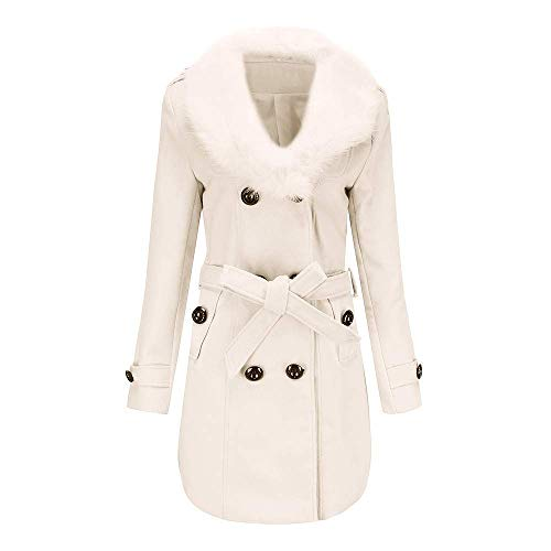 Bavero Jacket De Mode Doppio Petto Lana white Faux Warm X1 Trench Lungo Outwear Slim Marca Donna Winter Giacca In Cappotto Moda Parka Coat Autunno OilTkuPZwX