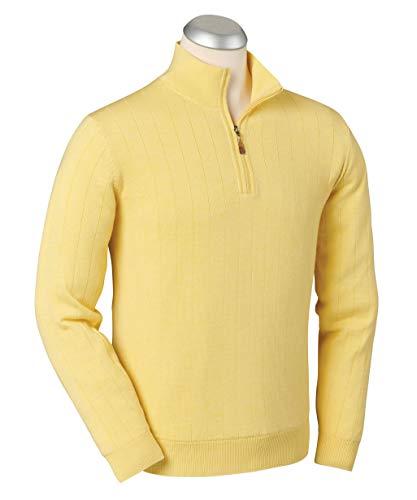 Bobby Jones Clothes for Men - Merino 1/4 Zip Wind Sweater - Fully Lined Men's Quarter Zip Pullover