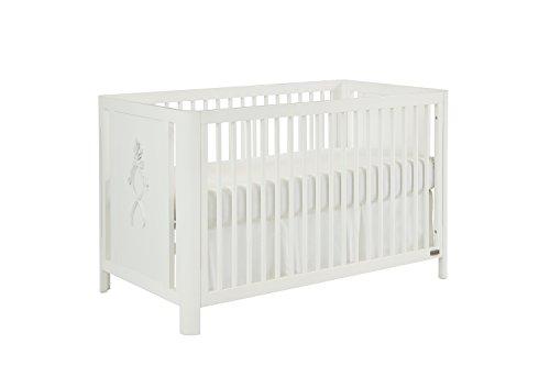 Bouquet 4 Piece Crib - Bassett Baby & Kids Elle 3-in-1 Crib, Cotton White