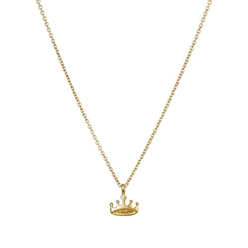 CH Plated Gold Vintage Retro Crown Necklace Women Girl Lady Long Chain Pendant Necklace Choker (Charms Crown Plated)