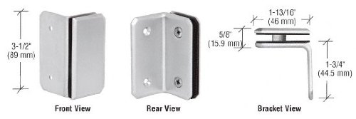 C.R. LAURENCE M090SSC CRL Satin Chrome Monaco Series Wall Mount Bracket by C.R. Laurence