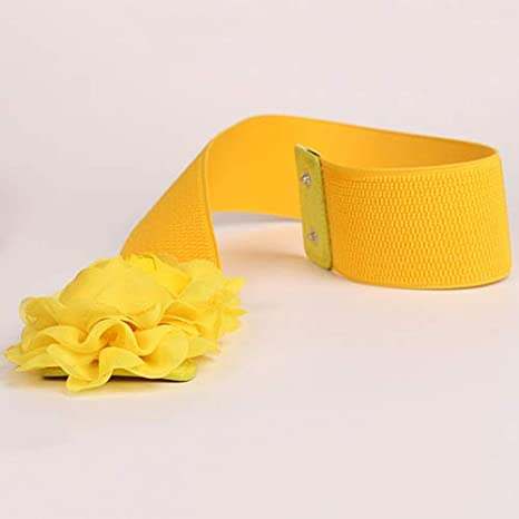 per Ragazze e Donne collectsound Cintura Elastica Larga in Vita Tinta Unita