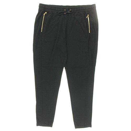 Lauren Ralph Lauren Womens Plus Khadijah Zipper Detail Flat Front Pants Black - Cheap Lauren Buy Ralph