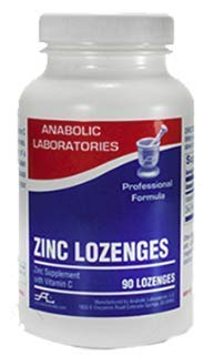 Zinc Lozenges with Vitamin C by Anabolic Laboratories (90 Count)