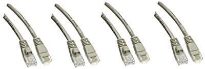 4 Feet Cat5e Ethernet Patch Cable Snagless//Molded Boot Gray Pack of 4 ED744830