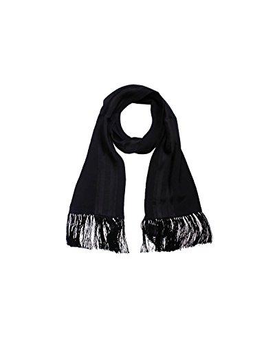 Diesel Scarves - DIESEL BLACK GOLD - Silk Neckerchief - Scarf 53x6 in / 135x16 cm SCARFER - black, One size