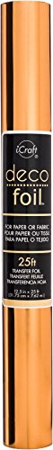 iCraft Deco Foil Value Roll, 12.5 inches x 25 feet, (Copper)