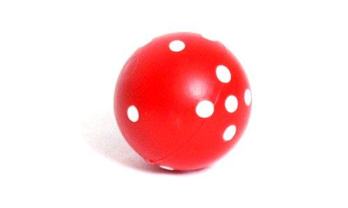 スーパーセール期間限定 Red Round (5/8in) Dice With White 16mm Spots White D6 16mm (5/8in) Pack of 1 B0019T76N0, 青海町:aff87377 --- cliente.opweb0005.servidorwebfacil.com