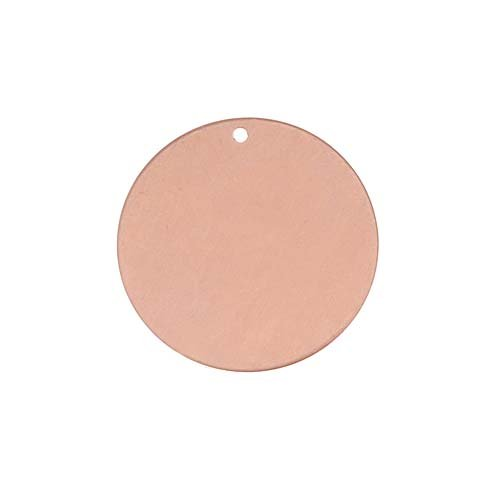 Solid Copper Stamping Round Blank Disk Tag Pendant 19mm (1)