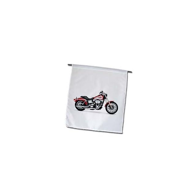 3dRose fl_ 4490_1 Harley Davidson Motorcycle Picture Garden Flag