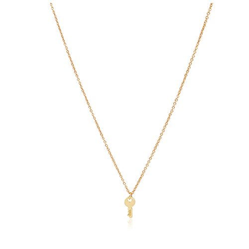 Zealmer Confidence Is Key Simple Key Charm Necklace Gold Plated Pendant Key Necklace Best Gift