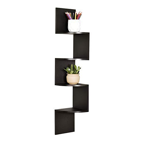 Buy corner floating shelves black