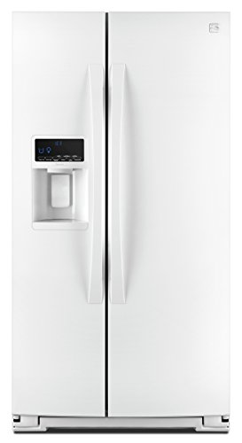 Kenmore Elite 51772 28 cu. ft. Side-by-Side Refrigerator with Accela Ice Technology in White