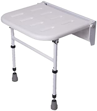 NRS Healthcare Folding Shower Seat with Legs (Eligible for VAT ...