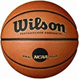 Wilson NCAA Replica Game Ball Official Size 29.5'' Indoor / Outdoor Moisture Absorbing Composite Leather
