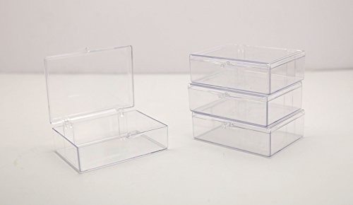 Clear Hinged Plastic Trading Card Storage Box 3 1/2