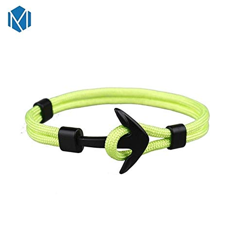 9ab582d856bec8 Davitu New Fashion Unisex Anchor Bracelets Men Charming Survival Rope Chain  Paracord Bracelet Male Wrap Metal