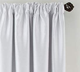 Royal Velvet Plaza Lined Blackout Rod-Pocket Curtain Panel 50x108 Cool White