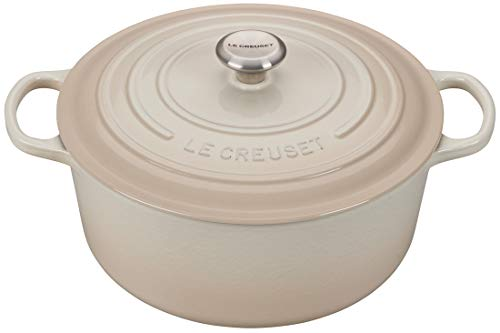 (Le Creuset 9-Quart Signature Round Dutch Oven Stainless Steel Knob, Meringue )