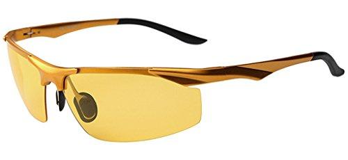 Eyekepper - Lunettes de soleil - Homme Multicolore - Brown Frame/Yellow Lens