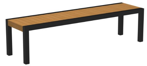 POLYWOOD 3800-12NT MOD Bench, Textured Black/Plastique price
