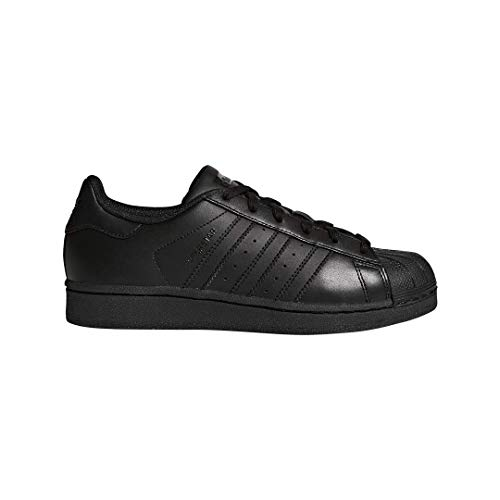 adidas Originals Superstar Foundation J Casual Basketball-Inspired Low-Cut Sneaker (Big Kid),Black/Black/Black,3.5 M US Big Kid