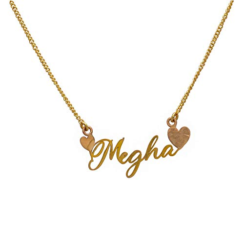 Artisans Crafted Brass Gold Plated and No Stone Necklace for Unisex Adult
