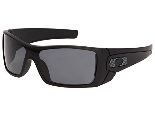 Oakley Batwolf Sunglasses Matte Black with Grey Polarized Lens + - Polarized Batwolf Oakley
