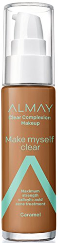 ALMAY Clear Complexion Make Myself Clear Makeup, Caramel, 1.0 Fluid Ounce