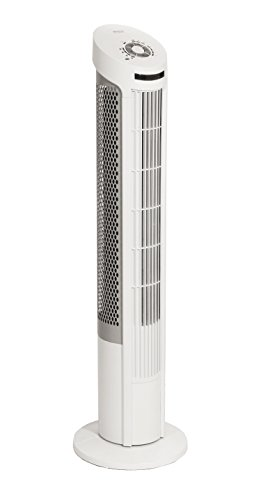 - Seville Classics UltraSlimline 40 in. Oscillating Tower Fan with Steel Intake Grill, White