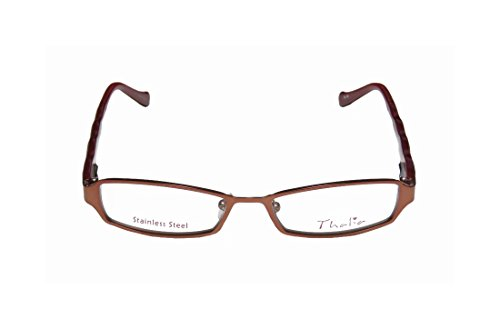 Thalia Divina WomensLadies Ophthalmic Distinct Designer Full-rim Spring Hinges EyeglassesSpectacles (47-15-135 Rosewood  Brown  Beige)