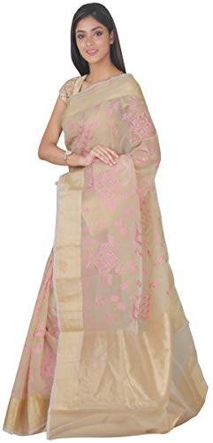 Saree Silk Fashion Cream Piace Simaaya Blouse SP126653 Art SF With AwPW1t
