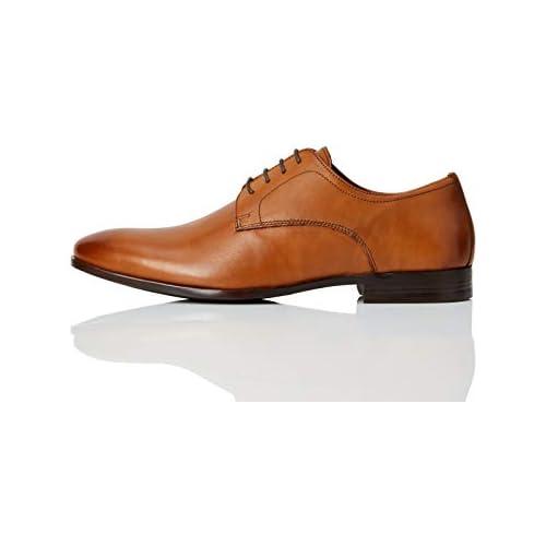 chollos oferta descuentos barato Marca Amazon find Fidel Zapatos de Cordones Derby Marrón Classic Tan 39 40 EU