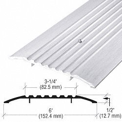 CRL 6'' Aluminum Commercial Saddle Threshold - 73'' Length by CR Laurence by CR Laurence