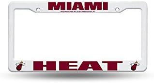 WinCraft Miami Heat Plastic Fan License Plate Made In U.S.A.