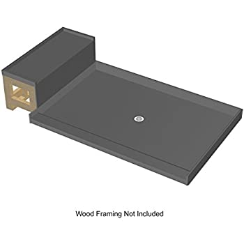 Tile Redi USA 3448C RB34 KIT Baseu0027N Bench Shower Pan Center Drain