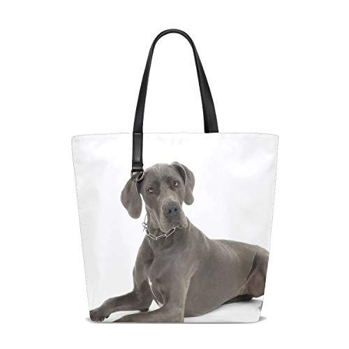 Grey Great Dane Dog Tote Bag Purse Handbag Womens Gym Yoga Bags for ()