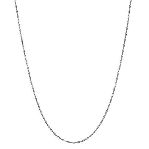 Sterling Silver 1.5mm Italian Twisted Curb Chain Necklace - 18