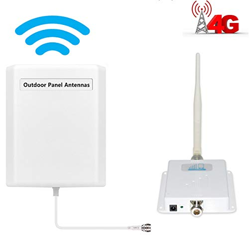 HJCINTL Cell Phone Signal Booster AT&T 4G LTE Mobile Booster FDD High Gain Band 12/17 Wireless Signal Boosters Home Mobile Phone Signal Booster Repeater ()