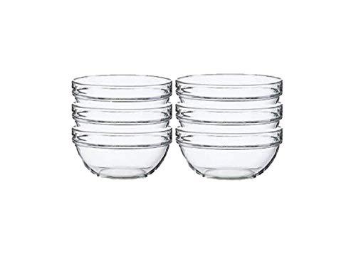 Lauryn Janae Prep Bowl Glass, 3.5'' Inch, Clear (Set of 6) by Lauryn Janae (Image #4)'