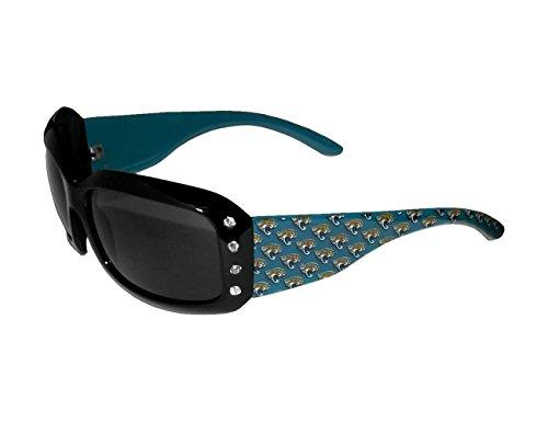 NFL Jacksonville Jaguars Women's Designer Sunglasses Swarovski Crystal Logo Sunglasses