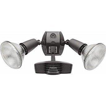 RAB Lighting STL110R Stealth 110 Sensor with Twin Die Cast R90 PAR-38 Floods, Aluminum, 110 Degrees View Detection, 1000W Power, 120V, Bronze Color