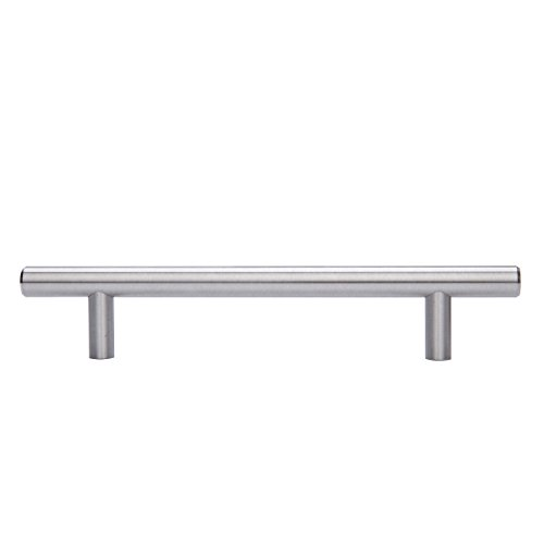 AmazonBasics (AB1504-SN-25) Euro Bar Cabinet Handle (1/2'' Diameter), 7.38'' Length (5'' Hole Center), Satin Nickel, 25-Pack by AmazonBasics (Image #3)