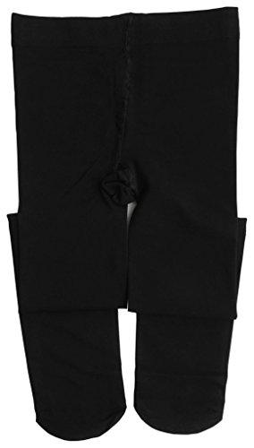 Little Black Convertible Dress (Dancina Footed Dance Tights Little Girls Ultra Soft Microfiber Ballet Small Leggings S (3-5) Black)