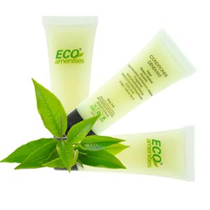 ECO AMENITIES Transparent Tube Flip Cap Individually Wrapped 30ml Conditioner, 72 Tubes per Case