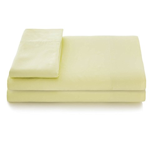 LINENSPA Super Soft Rayon from Bamboo Bed Sheet Set - Deep Pocket Fit - Lemon-Lime - Split California King by Linenspa