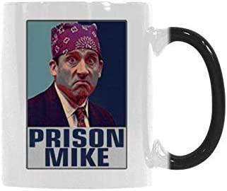 Heat Sensitive Color Changing Coffee Mug Prison Mike The Office Gifts Funny Coffee Cup 11 Ounce