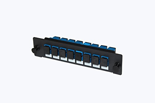 Adpt Panel - SHKE Fiber Adpt Panel, LGX, SC, SM/ SX ,Zirc,8Ports/8Fibers,BLK,Loaded